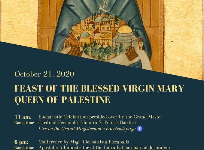 Římská Oslava Svátku Panny Marie, Královny Svaté Země ONLINE